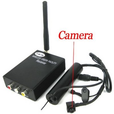 4-Channel Wireless Transimmiter with Mini Camera - 2.4GHz